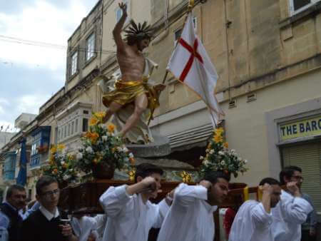 Easter Sunday procession in various Maltese villages