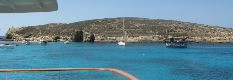 View of Cominotto from Comino