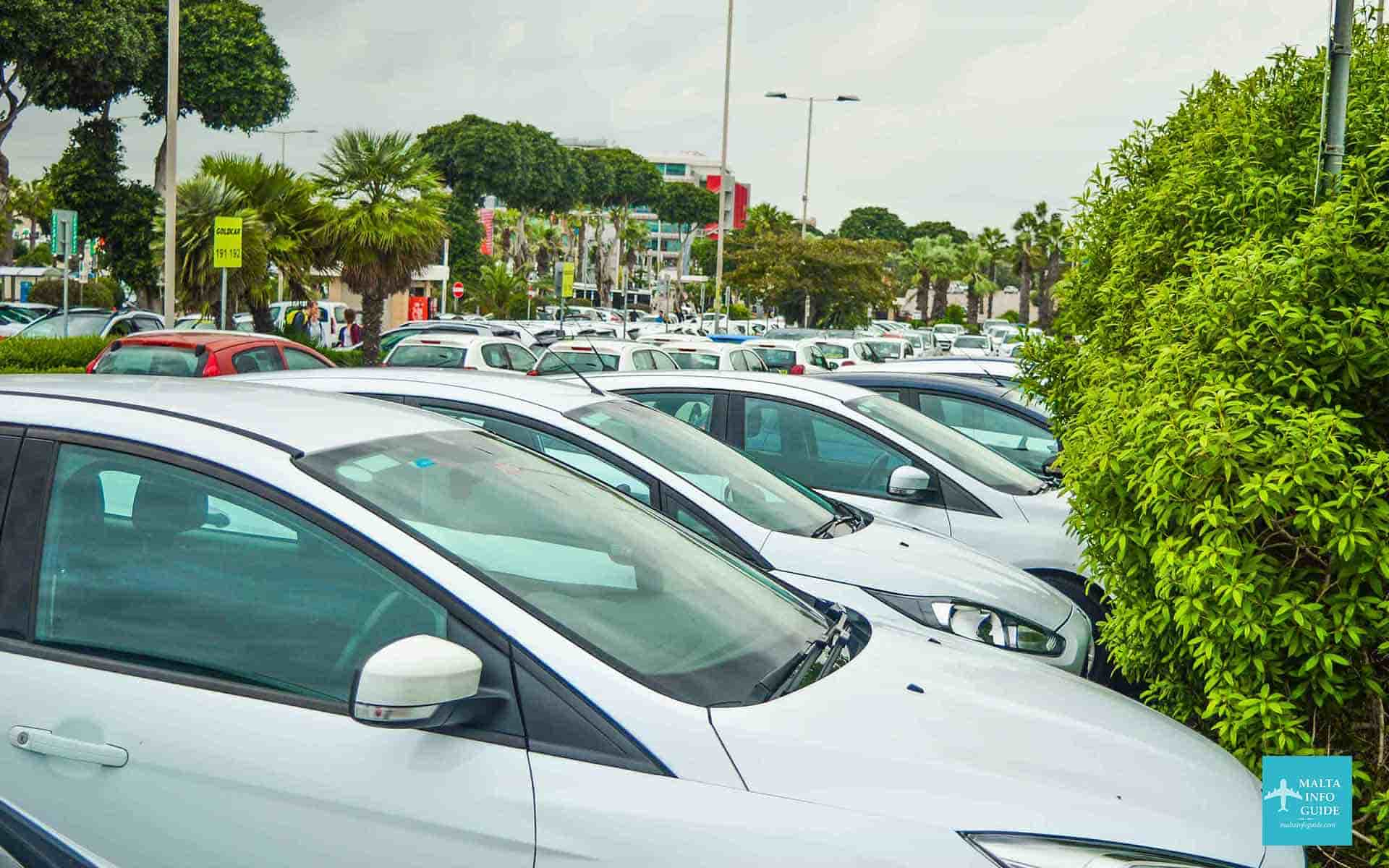A selection of cars to rent at Malta Airport