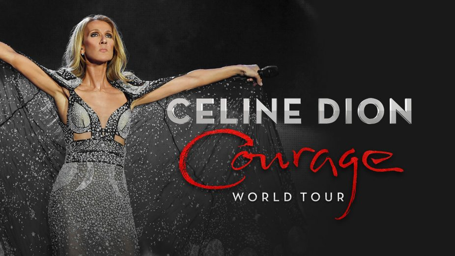 The poster of Celine Dion Courage Tour