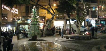 Sliema a village in Malta decorated for christmas