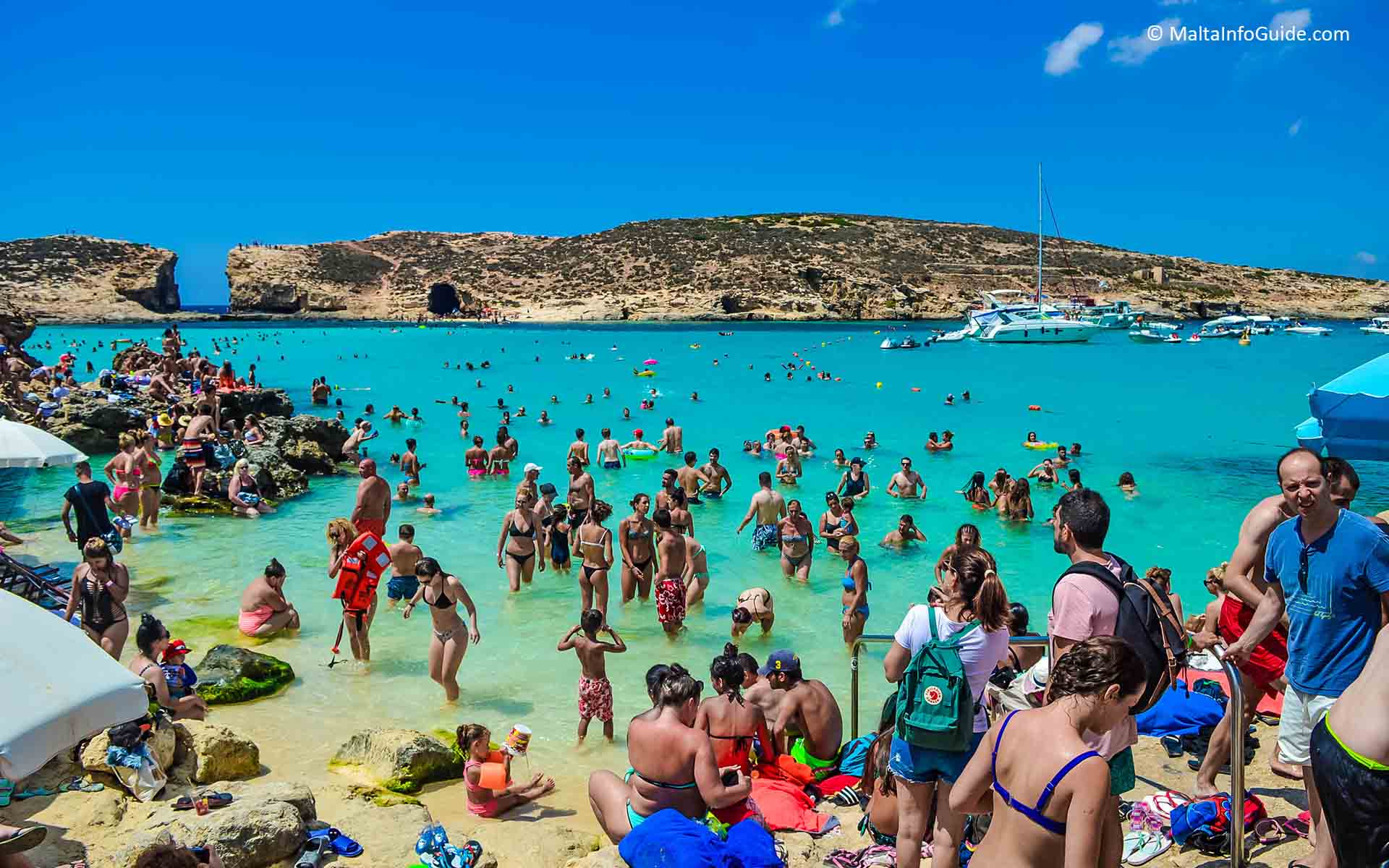 The Blue Lagoon at the island of Comino within the archipelago of the Maltese islands