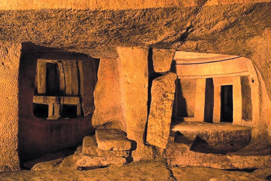 Inside view of the Hypogeum