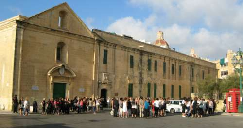 Tourists entering to watch Malta's history show