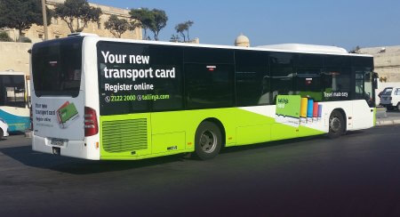 The new Malta Public Transport bus card