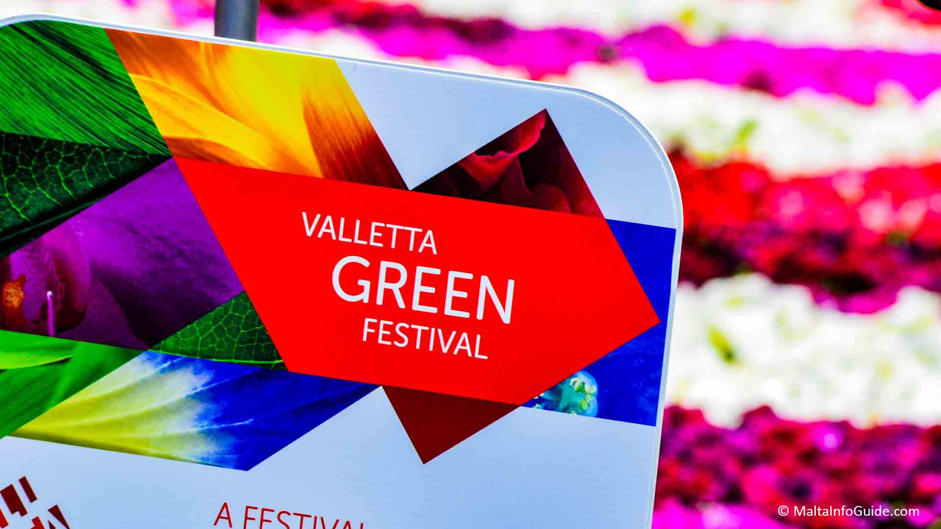 Valletta Green Festival carpet with 80,000 flower pots at St. George's Square