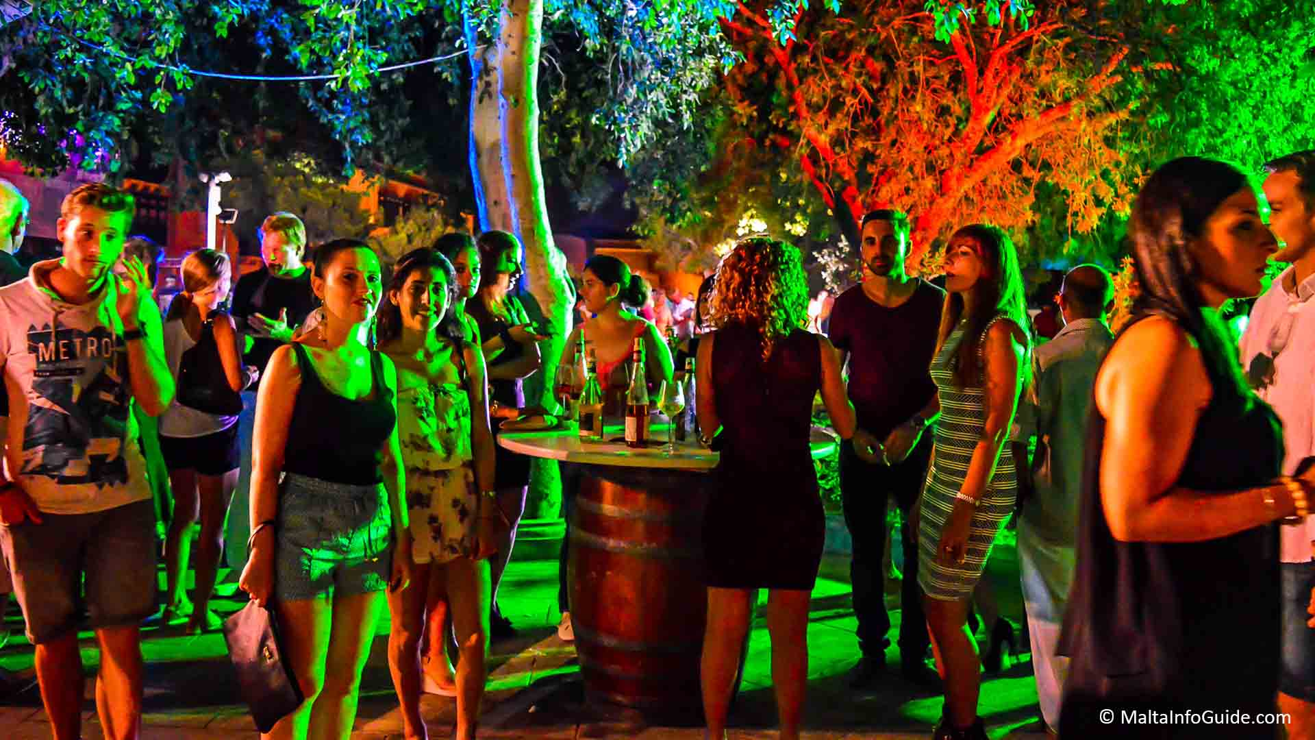 Marsovin wine festival at the Hastings Gardens Valletta