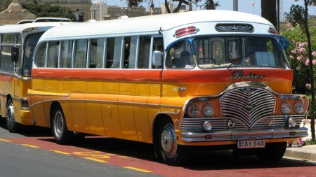 A beautiful old Maltese bus