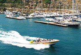 Power boat Mgarr harbour Gozo