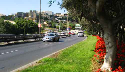 Main arterial road linking the north and south of Malta