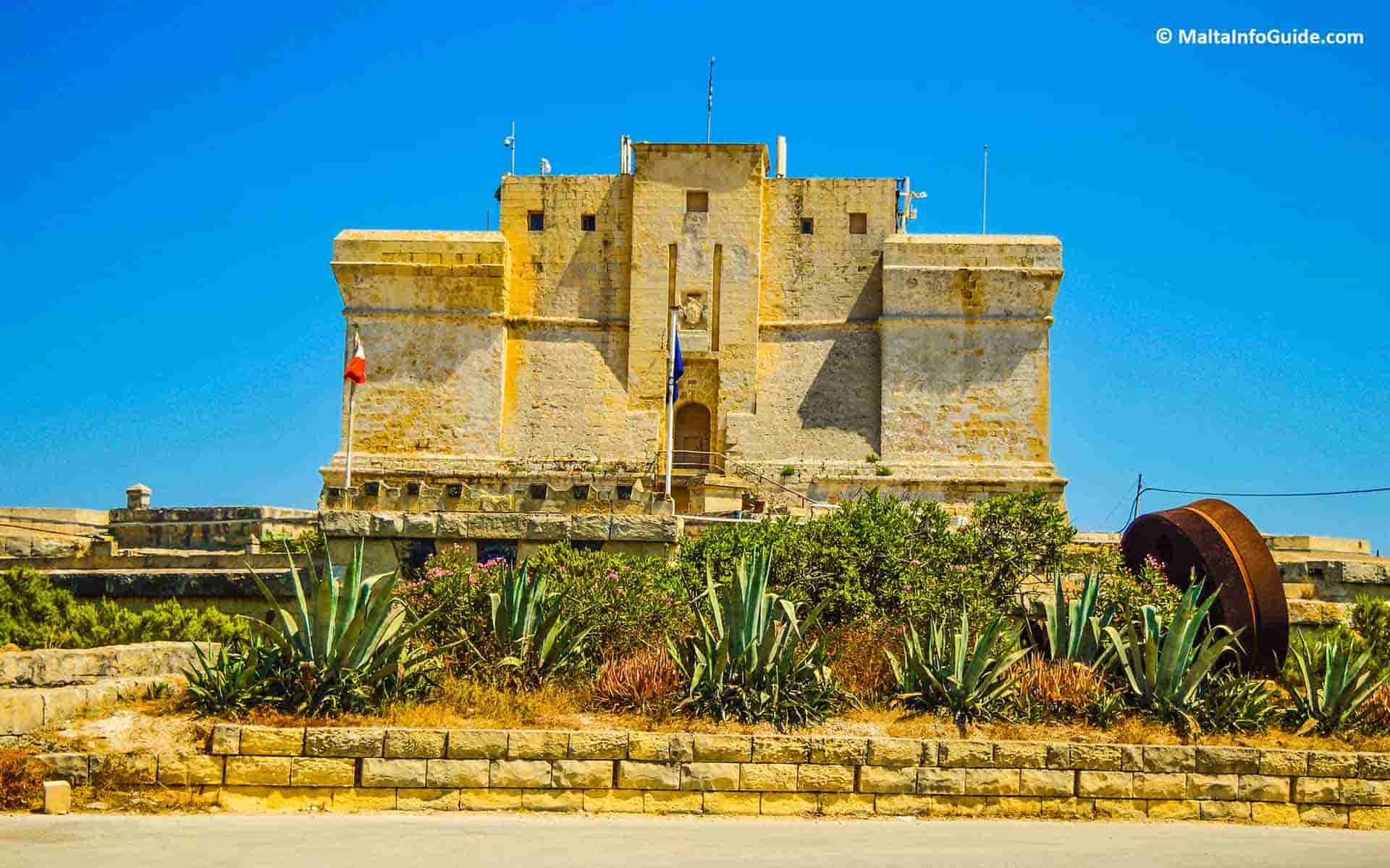 St.Lucian tower guarding Marsaxlokk inlet