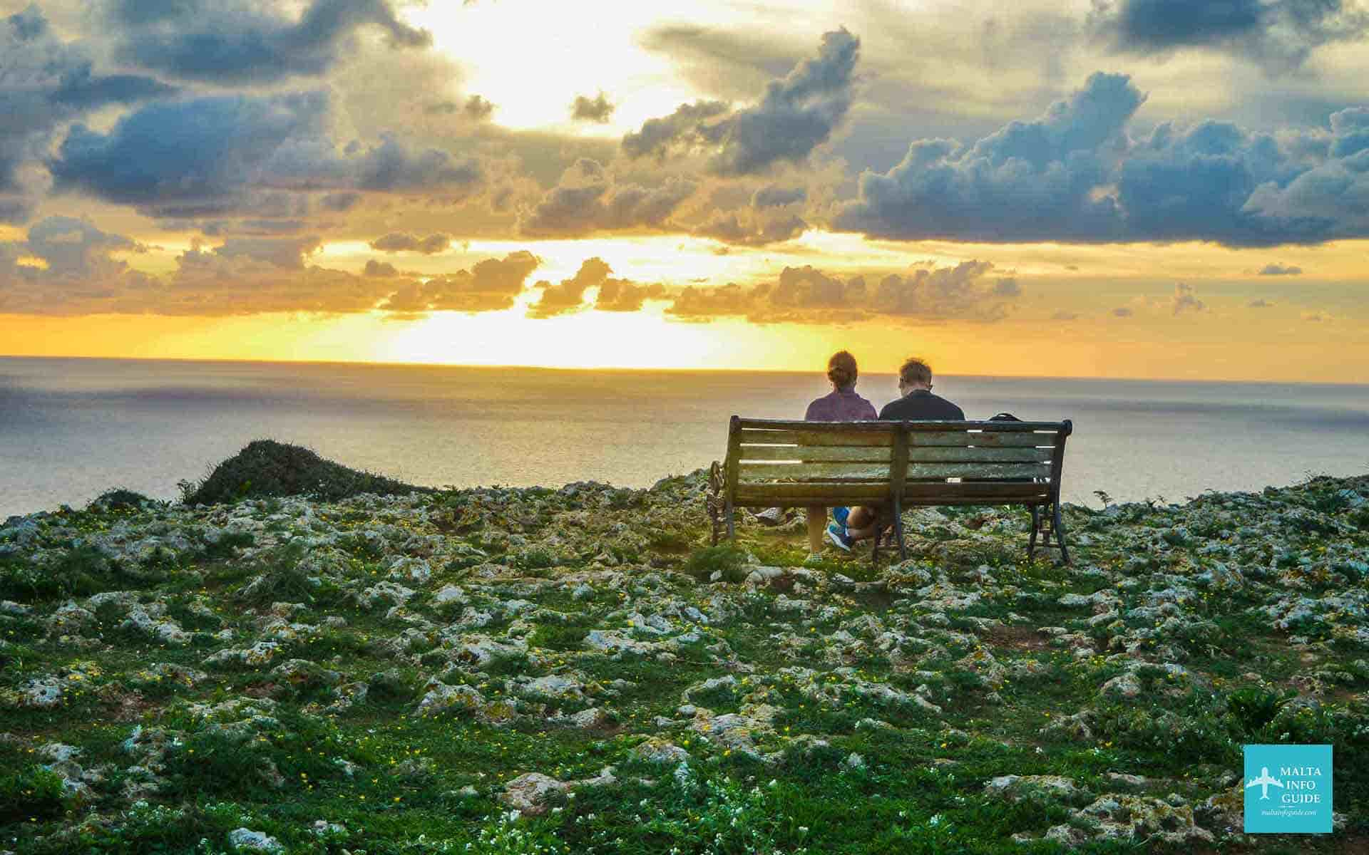 Sunset at Dingli cliffs Malta