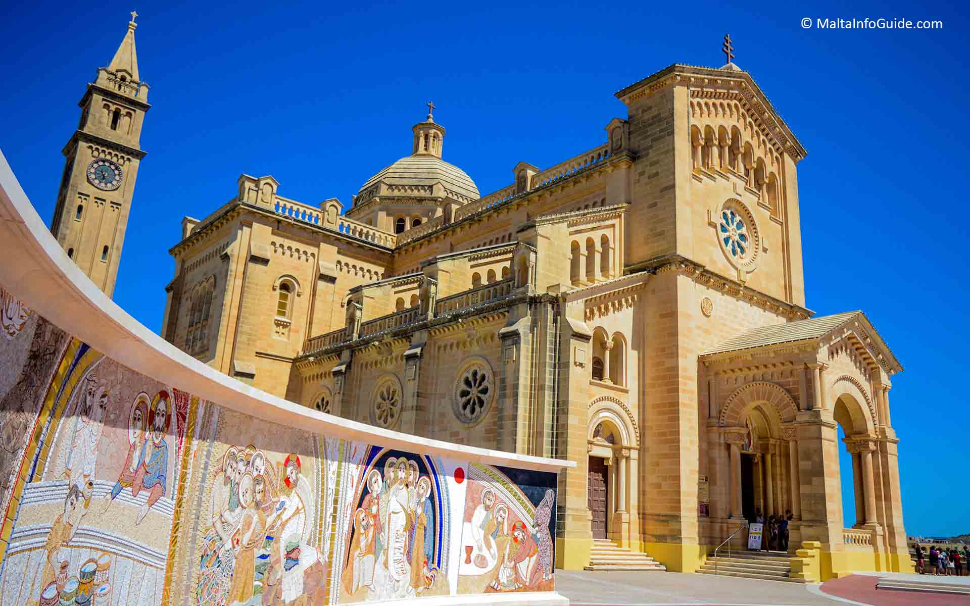 Ta'Pinu sanctuary church at Gharb Gozo dedicated to Blessed Virgin of Ta'Pinu