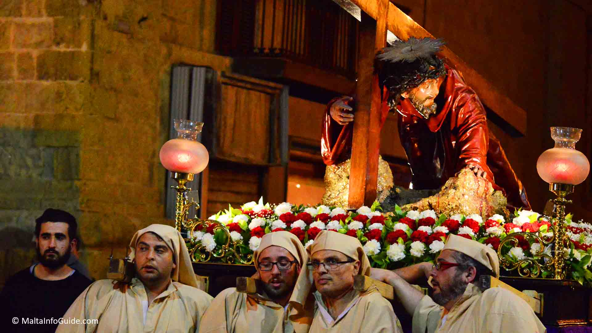 Statue - Jesus carrying the Cross during Good Friday procession in Valletta