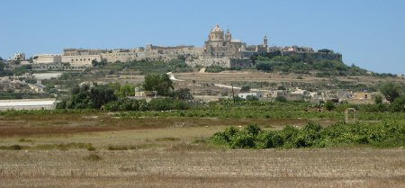 A view of Mdina from Ta'Qali