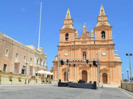 Mellieha parish church village feast on the 8th September of each year